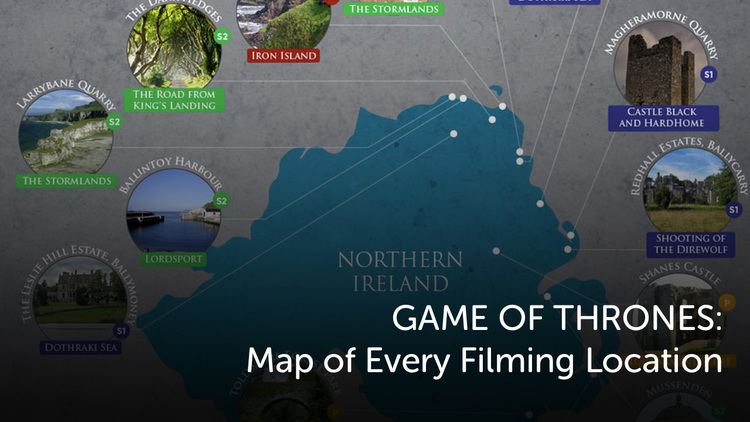 Game of thrones map of every filming location geektyrant the practical locations in the game of thrones are very spectacular and really add a texture and history to the whole show shooting in seven different gumiabroncs Gallery