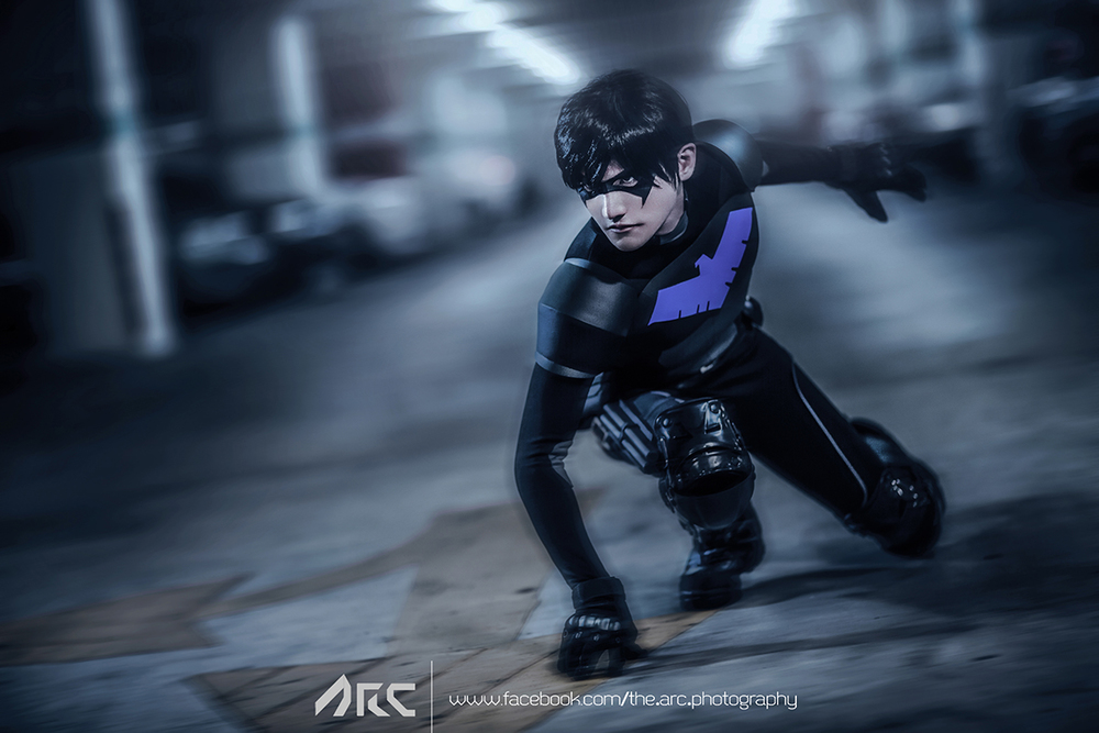 Liui Aquino  is Nightwing | Photo by  A.R.C. Photography