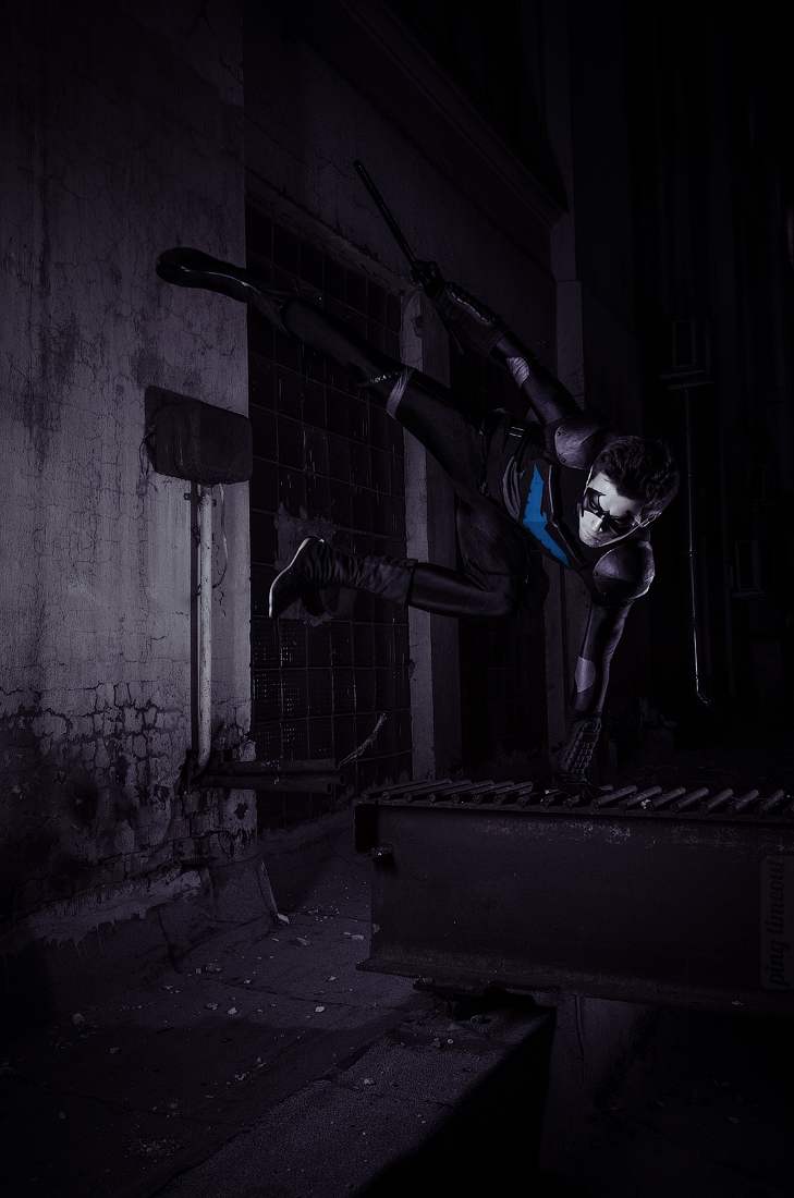 GraysonFin  is Nightwing | Photo by  UselessDevice
