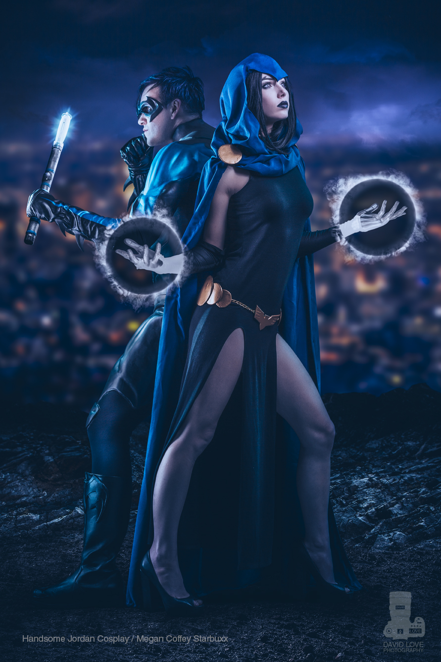 Handsome Jordan Cosplay  is Nightwing &  Megan Coffey Starbuxx  is Raven | Photo by  David Love Photography