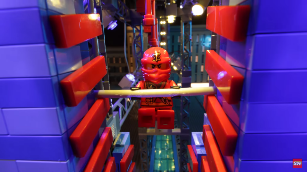 Stop motion lego minifig conquers the american ninja warrior course