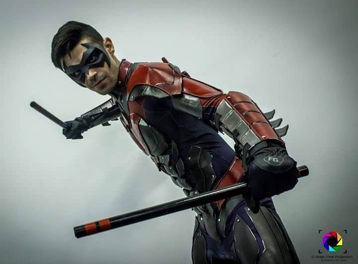 Dynamite Webber Cosplay  is Nightwing | Photo by  Simply Frank Productions  | Mask by  Tiger Stone FX