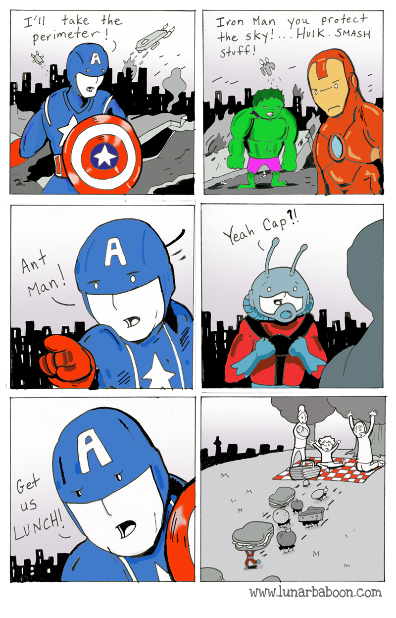 Ant-Man Makes Himself Useful For The Avengers in Funny ...