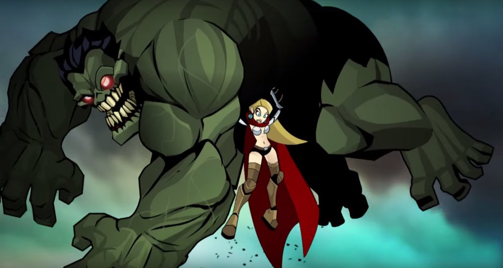 thor vs zombie hulk in actionpacked animated marvel fan