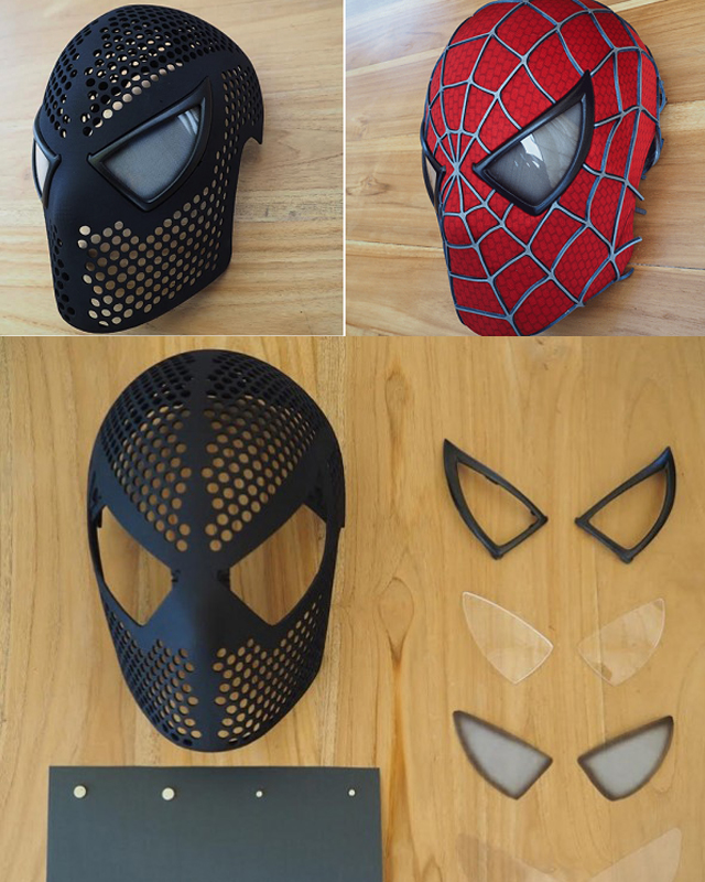 Video: Make Your Own 3D Printed SPIDER-MAN Mask