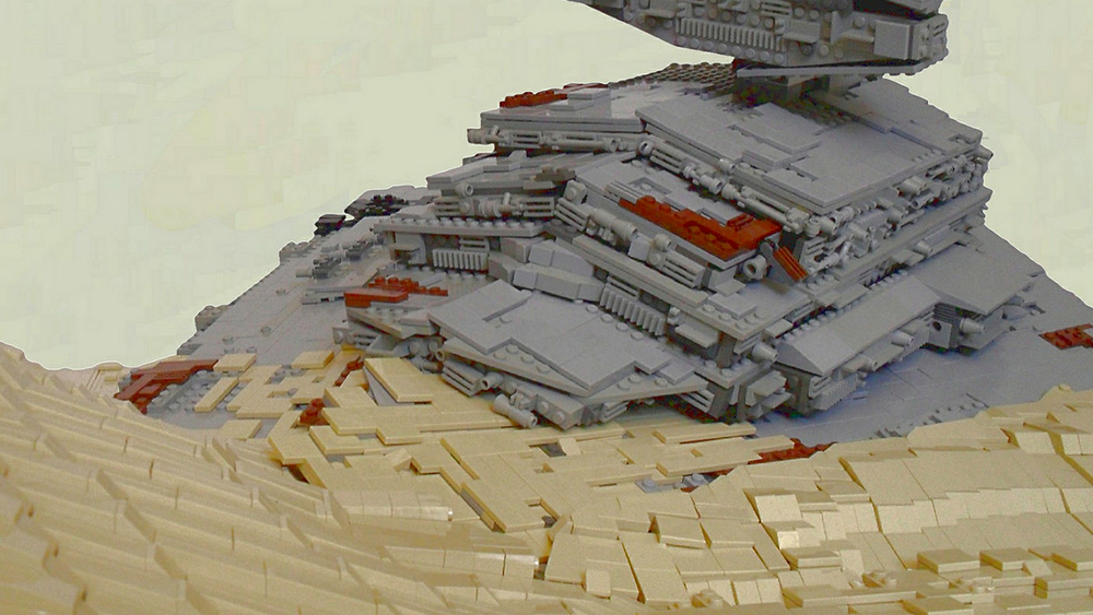 LEGO Recreation of Downed Star Destroyer on Jakku From STAR WARS ...
