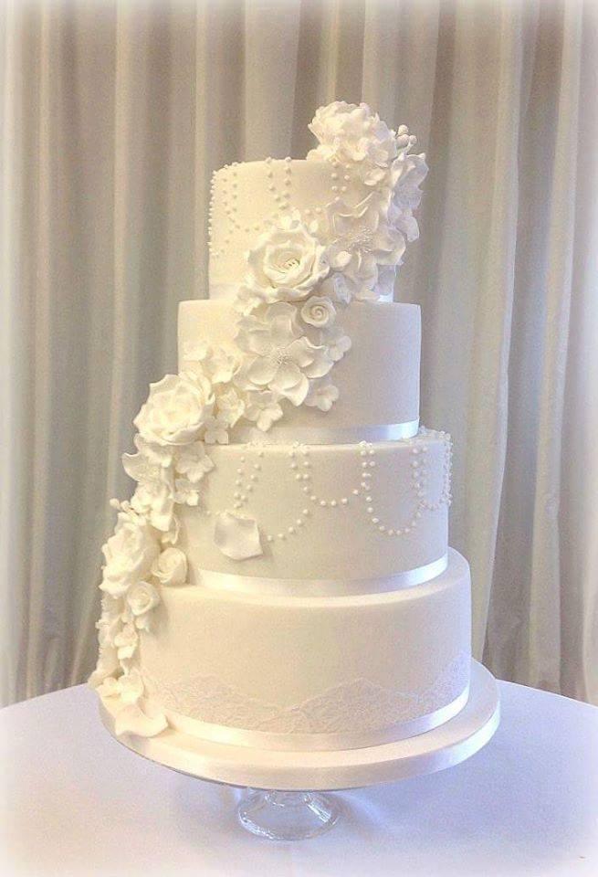 classic looking wedding cake has a heroic secret