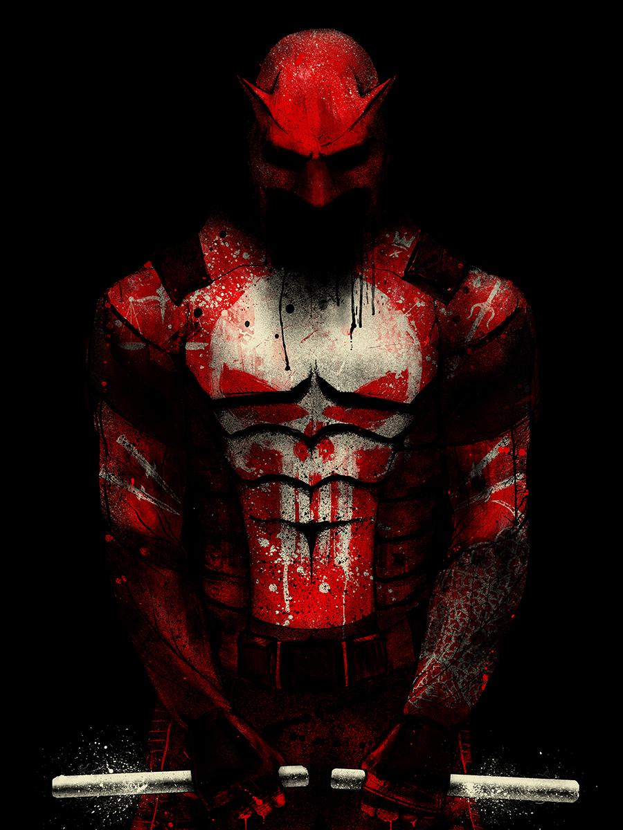 Daredevil And Punisher Mashup Art By Nikita Kaun Geektyrant