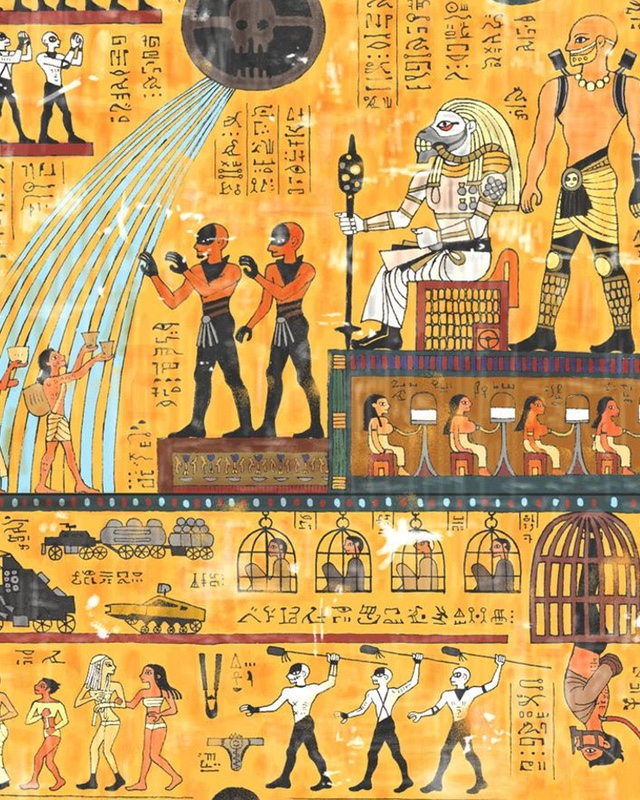 MAD MAX: FURY ROAD Story Told In Egyptian Hieroglyphic Art