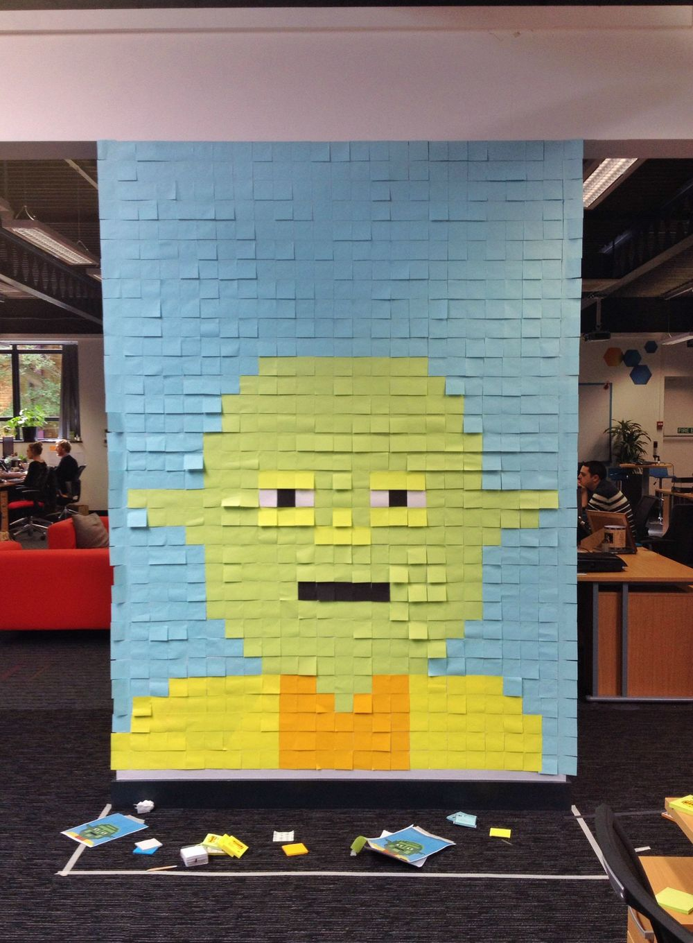Video: Workers Decorate Office with STAR WARS-Inspired Post-It ...