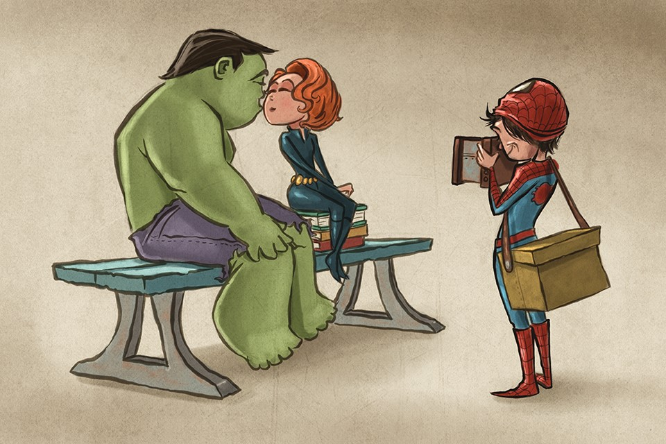 geektastic-art-series-with-superheroes-and-tattooed-disney-princesses-by-joel-santana4