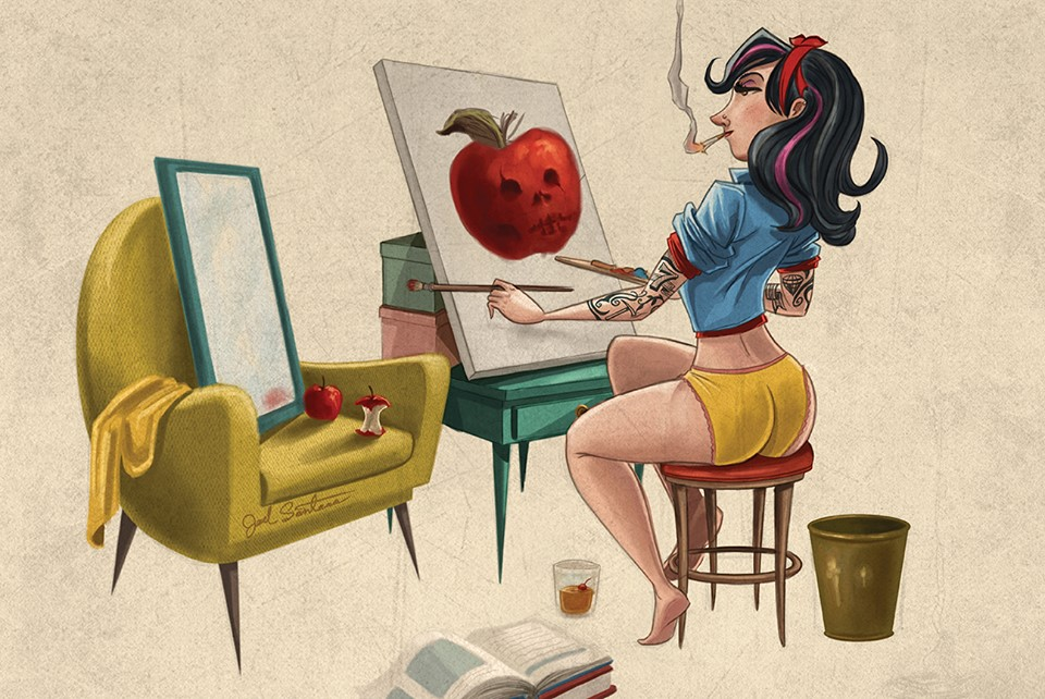 geektastic-art-series-with-superheroes-and-tattooed-disney-princesses-by-joel-santana13