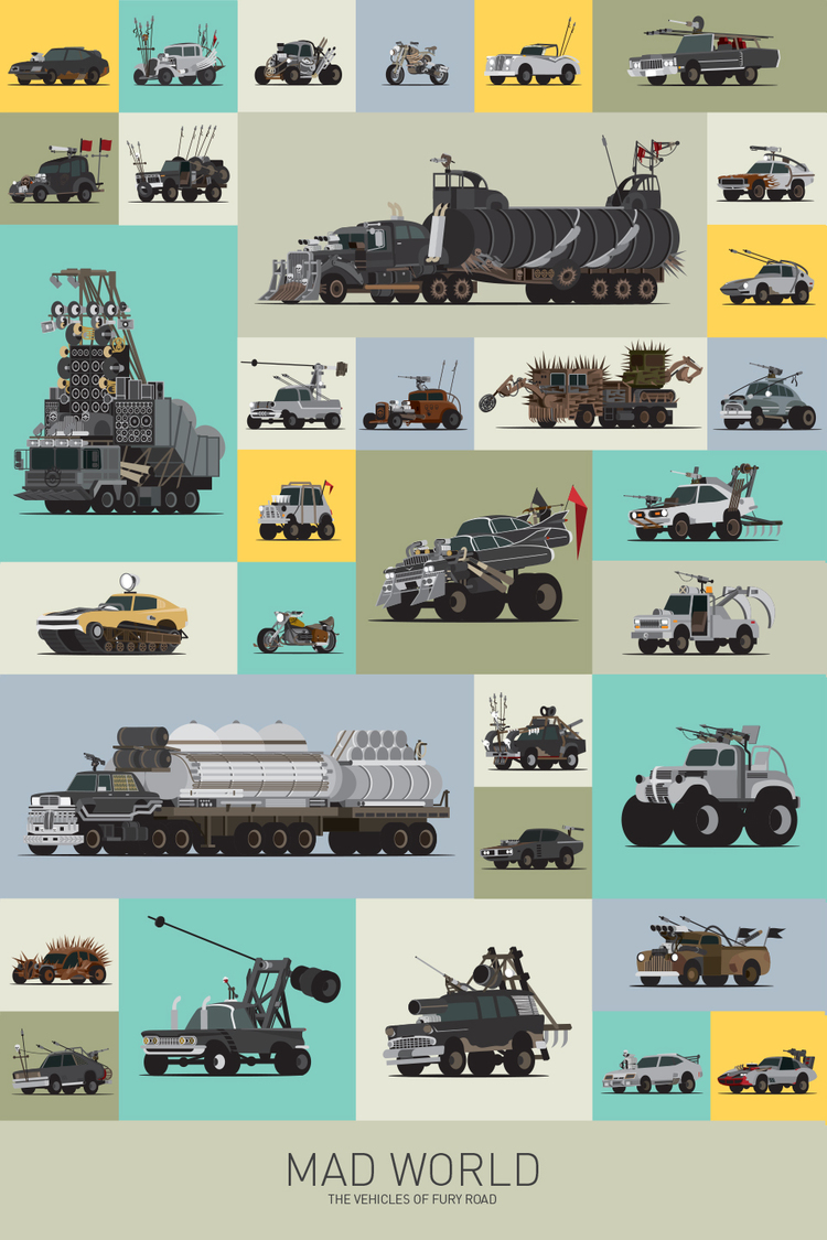 All Types all cars : MAD MAX Vehicle Poster - Mad World: The Vehicles of Fury Road ...