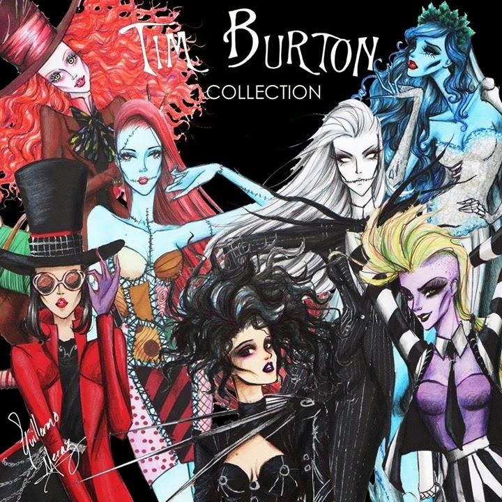 tim burton movie inspired fashion art series geektyrant