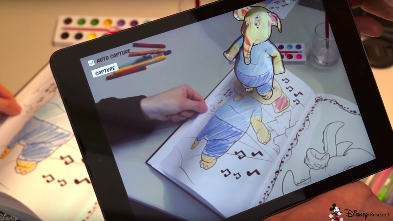 Check This Out: Disney Invents Awesome 3D Coloring Book — GeekTyrant