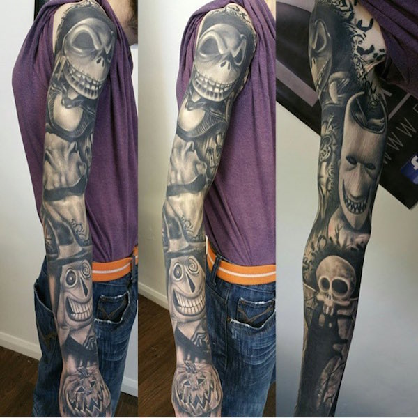 wicked cool tattoo inspired by the nightmare before christmas geektyrant. Black Bedroom Furniture Sets. Home Design Ideas