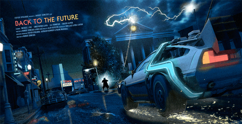 Striking Back To The Future Art Prints From