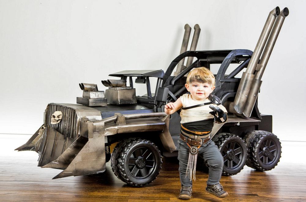 Power Wheels Tractor Pull : Badass mad max power wheels war rig for kids — geektyrant
