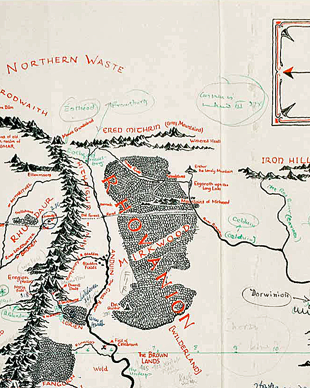 someone discovered a map of middle earth annotated by jrr tolkien