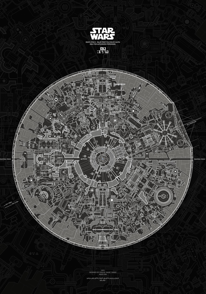 death star ii the lost blueprint poster � geektyrant