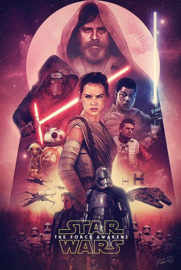 fan poster for star wars the force awakens features luke skywalker