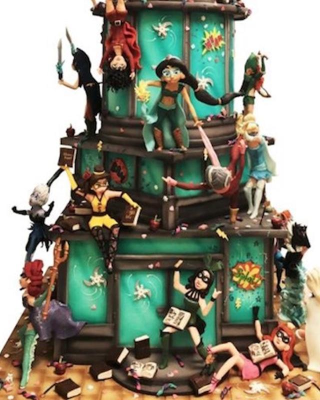 Disney Inspired Cake Shows Princesses Epically Battling Villains