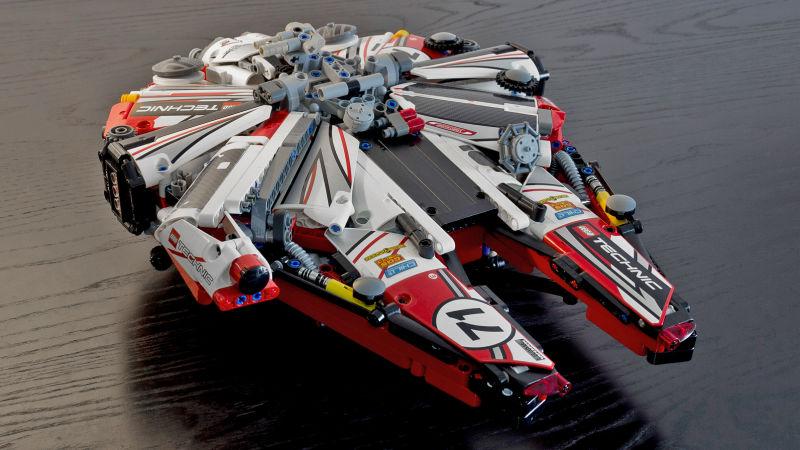 Millennium Falcon Gets A Custom Made Lego Racer Build