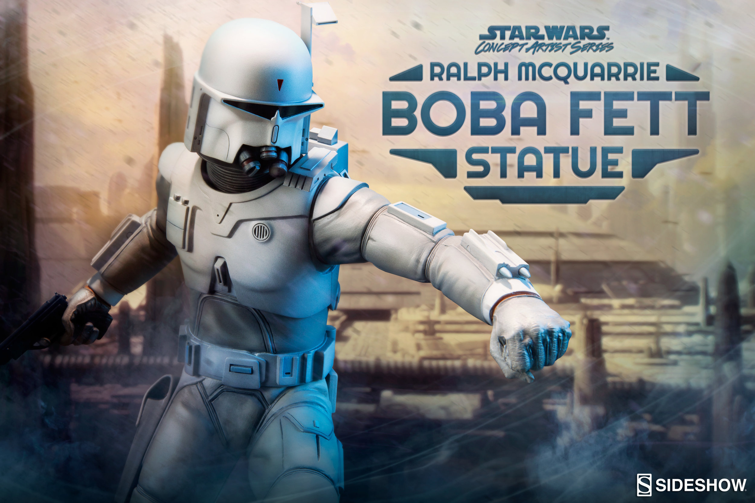 Ralph Mcquarrie Boba Fett Statue From Sideshow Collectibles Geektyrant