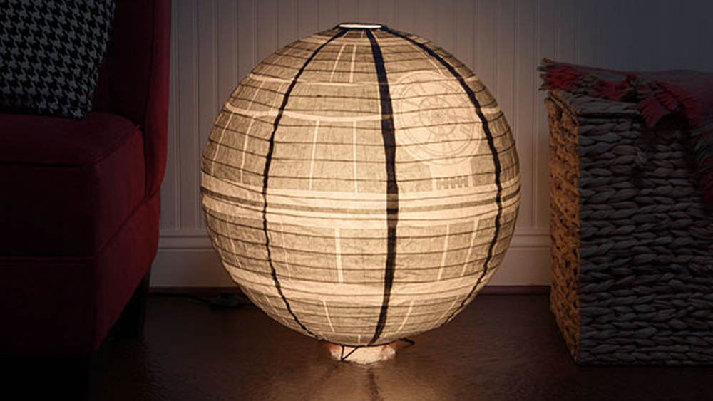 See This Cool Death Star Paper Lantern Floor Lamp Geektyrant