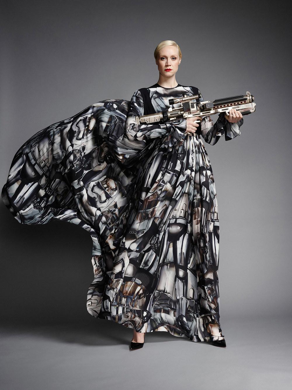 Gwendoline Christie Models Stylish Captain Phasma Gown