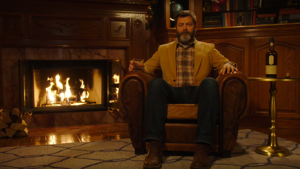 Watch Nick Ferman Drink Whisky In Silence By A Fireplace For