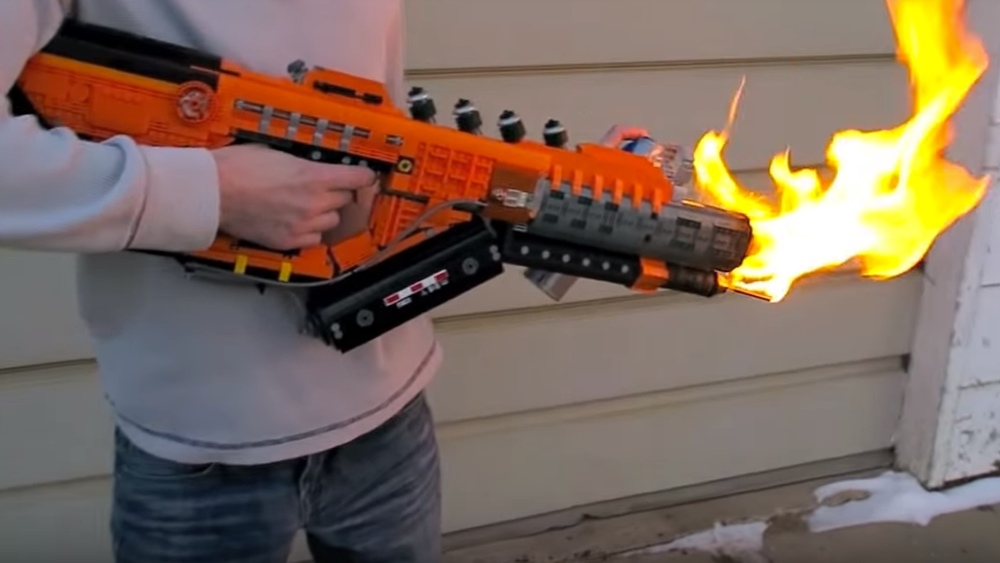 This Is A Lego Flamethrower Inspired By Call Of Duty 3