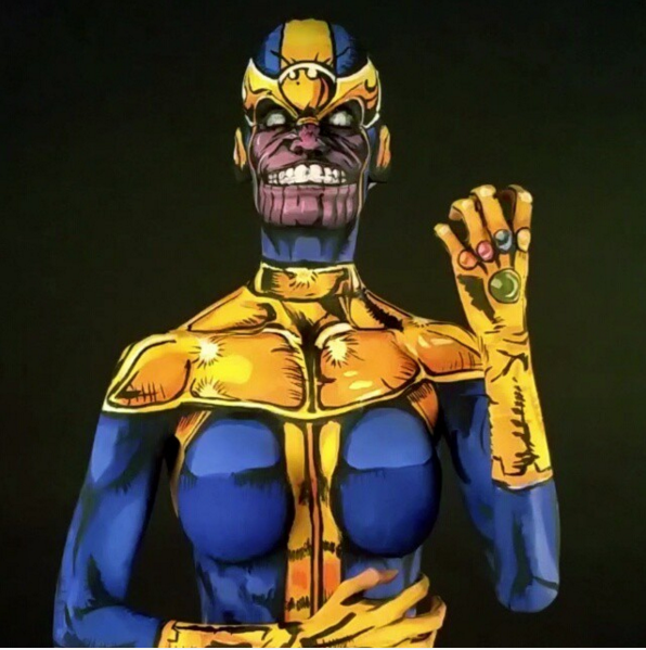 thanos-body-paint-cosplay-insanely-brings-marvel-comic-villain-to-life