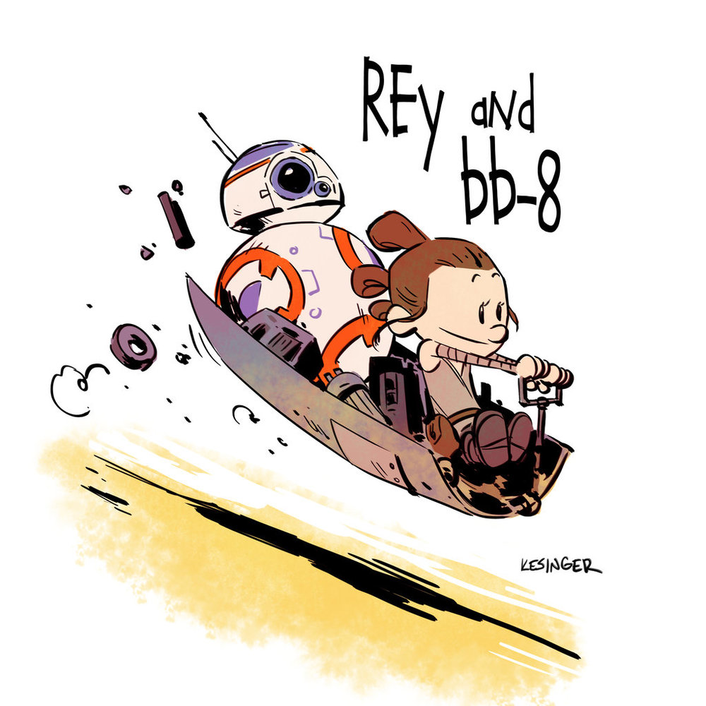 STAR WARS THE FORCE AWAKENS Gets A CALVIN amp HOBBES Style