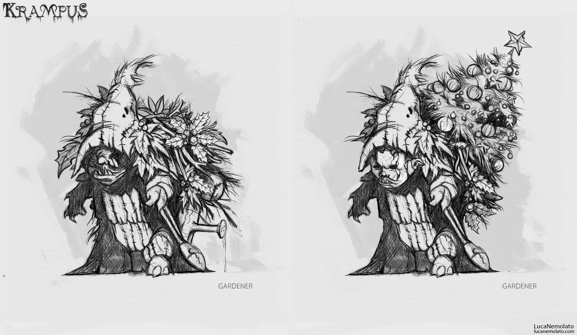 KRAMPUS Concept Art Shows Demonic Gingerbread Men, Evil Elves, and ...