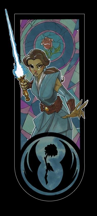 Lightsaber Wielding Jedi Disney Princesses Art Series Geektyrant