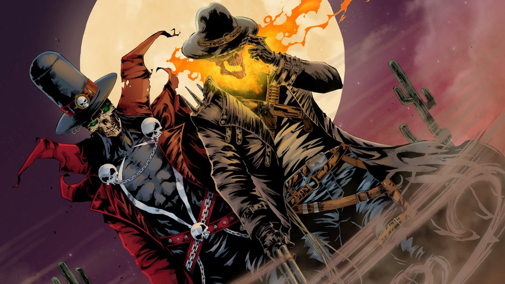 gunslinger spawn and western ghost rider team up in