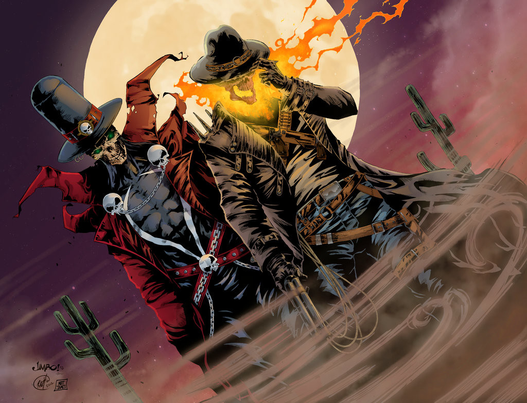 gunslinger spawn and western ghost rider team up in awesome