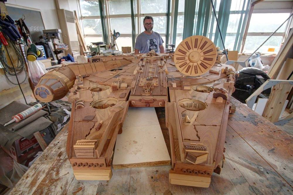 Crafty Carpenter Makes Star Wars Millennium Falcon And
