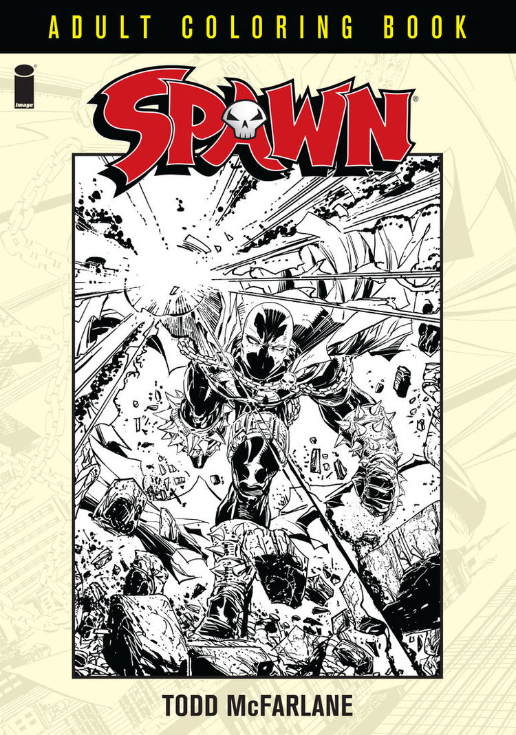 Preview Art From Image Comics Spawn Adult Coloring