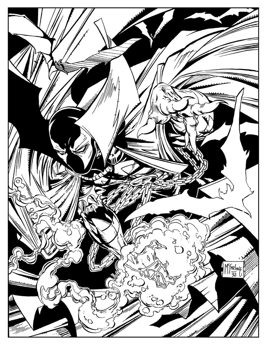 Preview Art from Image Comics SPAWN Adult Coloring Book GeekTyrant