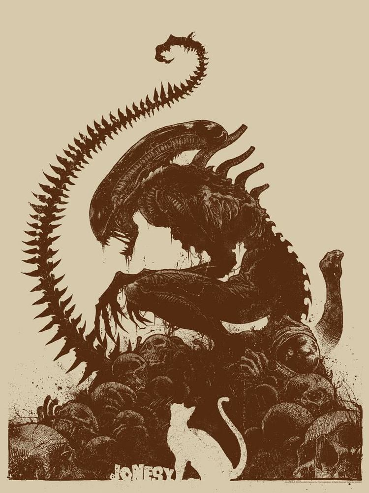 With Alien Covenant Coming Up Fans Have Xenomorphs On The Brain And In This New Artwork By Artist Godmachine A Xenomorph Is Literally Perching On Top Of