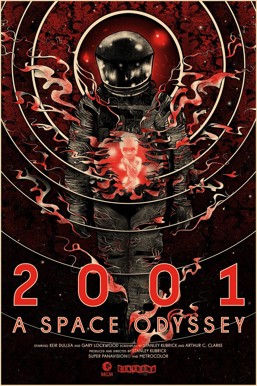 2001 A Space Odyssey Tribute Poster By Nikita Kaun