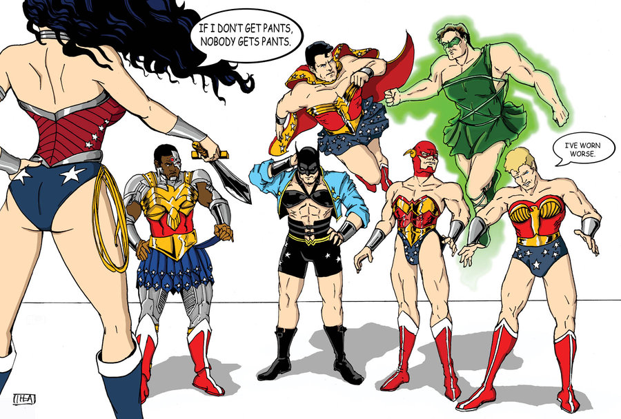 the-justice-league-wearing-wonder-woman-costumes-if-i-dont-get-pants-nobody-does