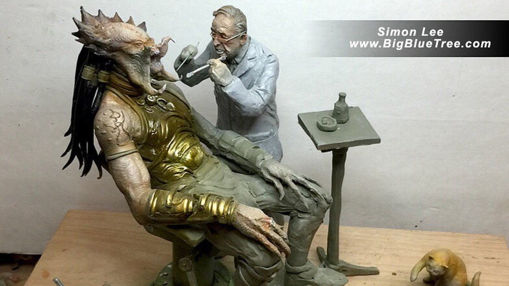 Predator Sees a Dentist in This Hilarious Fan-Made Statue ...