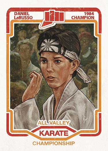 brilliantly fun pop culture sports movie trading card art