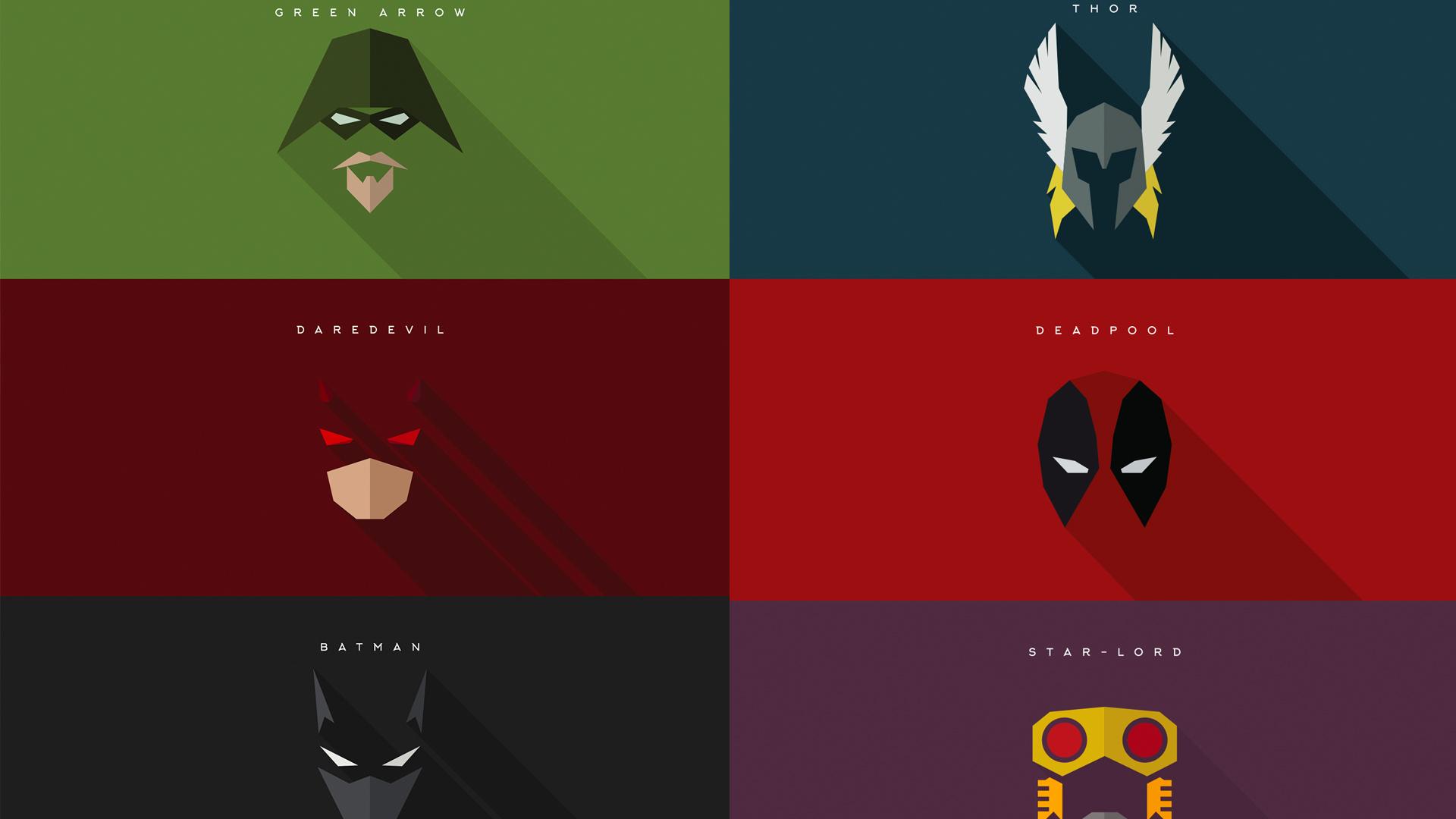 Minimalist Superhero Masks For Batman Daredevil Deadpool And More