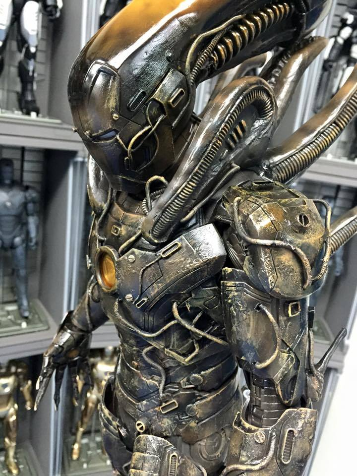 Astonishing Iron Man Alien Xenomorph Action Figure Mashup ...