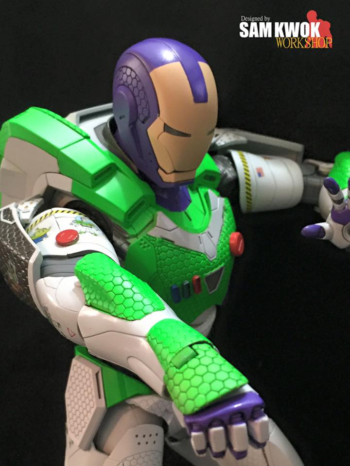 Buzz Lightyear And Iron Man Custom Made Mashup Action