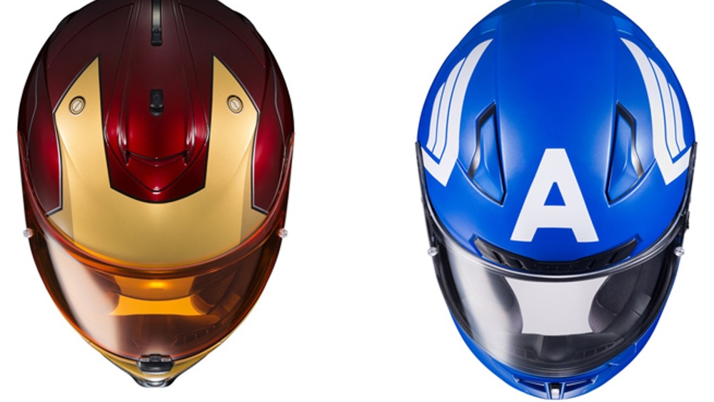Slick Looking Ly Licensed Marvel Motorcycle Helmets